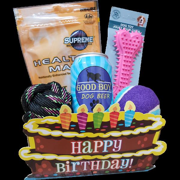 Happy Birthday Dog Gift Basket