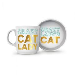 Howligans Ceramic Mug and Cat Bowl Set